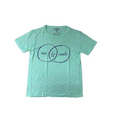 Camiseta SIPRODIRO Verde Papai Eu Mamãe