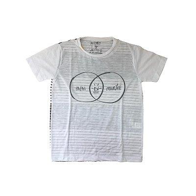 Camiseta SIPRODIRO Branca Papai Eu Mamãe