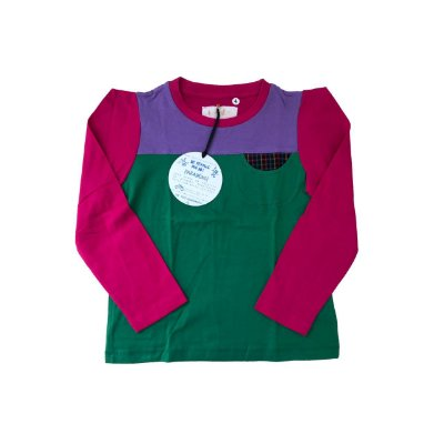 Camiseta SPIRODIRO Verde, Pink e Lilás Manga Longa
