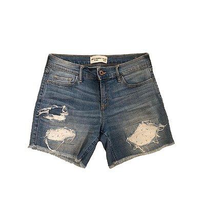 Bermuda Jeans ABERCROMBIE KIDS com Aplique em Lasie
