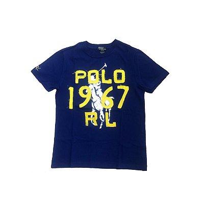Camiseta RALPH LAUREN Azul e Amarela 1967