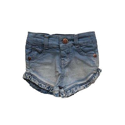 Shorts Jeans ZIG MUNDI com Babado