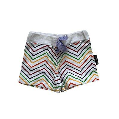 Shorts Infantil BB BÁSICO Branco e Colorido