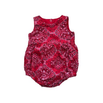 Romper BABY FASHION & FUN Vermelho Bandana