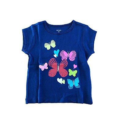 Camiseta Carter's Azul Marinho Borboletas