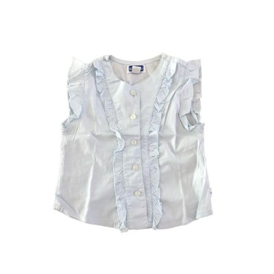 Camisa Chicco Infantil Manga Curta Azul Claro