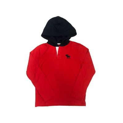 Camiseta Manga Longa ABERCROMBIE KIDS Vermelha com Capuz