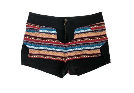 Shorts TRETTIORE Feminino Preto e Colorido