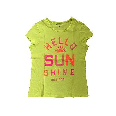 Camiseta TOMMY HILFINGER Infantil Amarela SUN