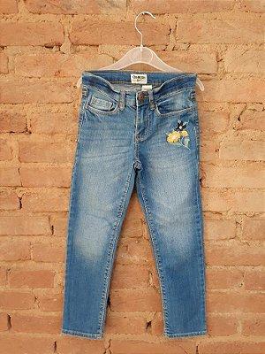 Calça Jeans OSHKOSH com Bordado Flor Amarela