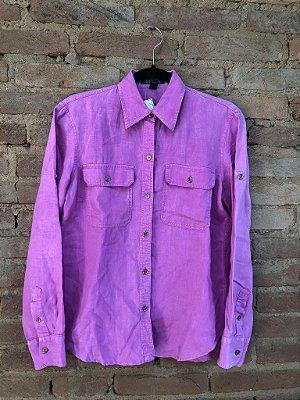 Camisa RALPH LAUREN Feminina Pink em Linho