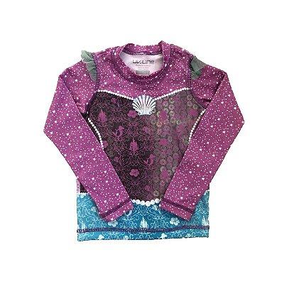 Camiseta UV.LINE Infantil Rosa e Azul Concha