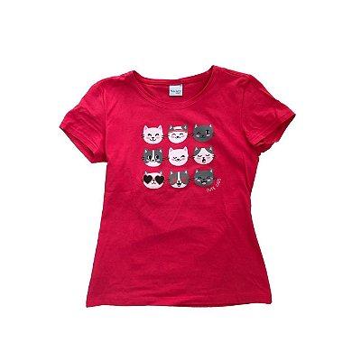 Camiseta MALWEE infantil Pink Gatinhos