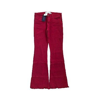 Calça Carlos Miele Jeans Feminina Vermelha com etiqueta