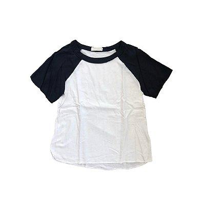 Camiseta Cris Barros Branca e Azul