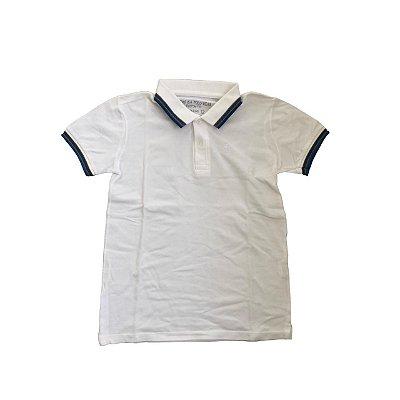 Camiseta Polo POLO WEAR Infantil Branca