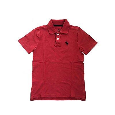 Camiseta Polo ABERCROMBIE Infantil Vermelha