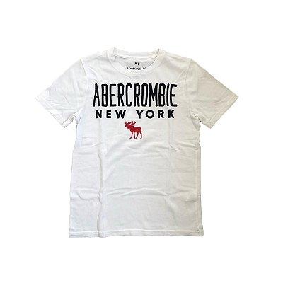 Camiseta ABERCROMBIE Infantil Branca New York