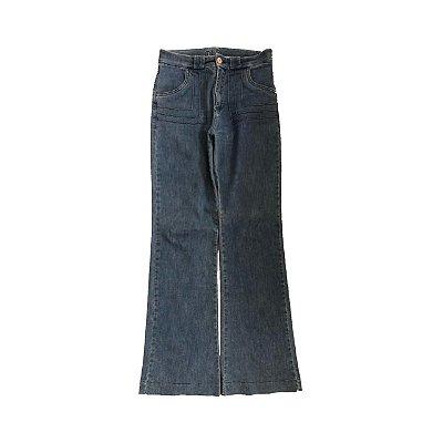 Calça Jeans Claro MOB Flare com Detalhe no Bolso
