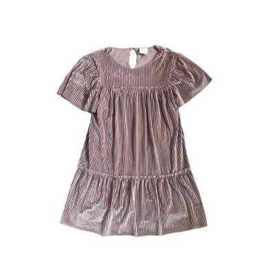 Vestido ZARA KIDS Rosê em Veludo Molhado