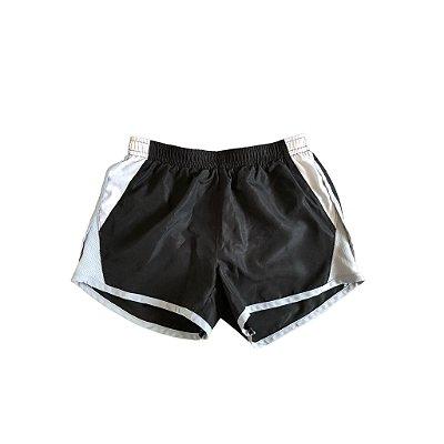 Shorts Nike Infantil Preto, Branco e Cinza