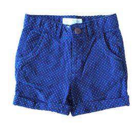 Shorts ZARA Infantil Azul com detalhes Laranja