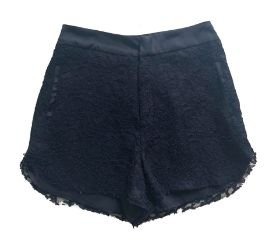 Shorts Feminino Preto em Renda