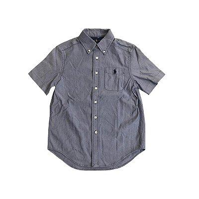 Camisa RALPH LAUREN Infantil Azul Manga Curta