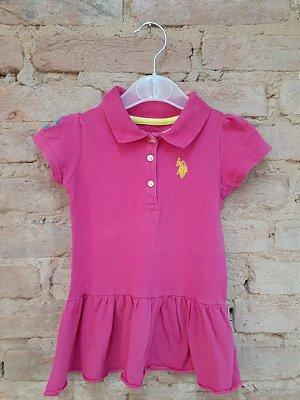 Vestido U.S. POLO Infantil Pink