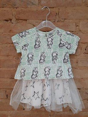 Vestido PISTOL STAR Infantil com Tule