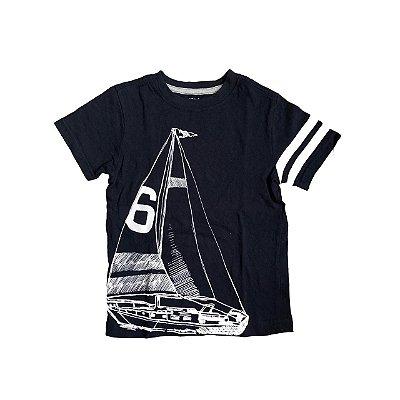 Camiseta GYMBOREE Infantil Azul Marinho Veleiro