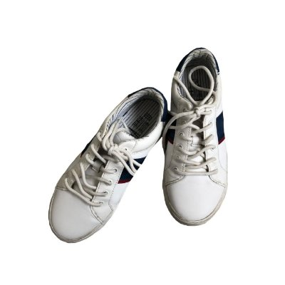Tênis ZARA Infantil Branco com Faixa Azul