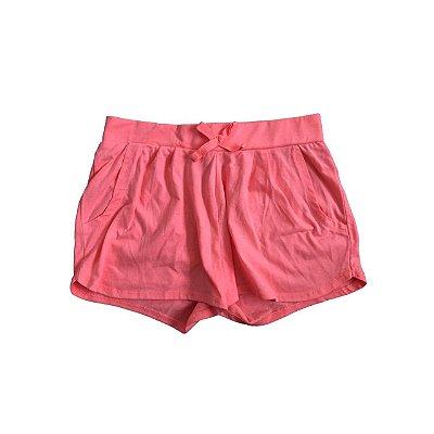 Shorts KIABI Infantil Algodão Rosa Fluor