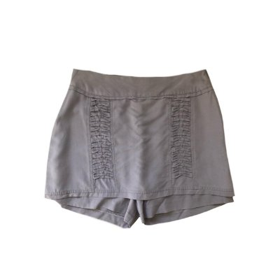 Shorts Saia ATELIER LINAH Feminino Cinza com Detalhes na Frente