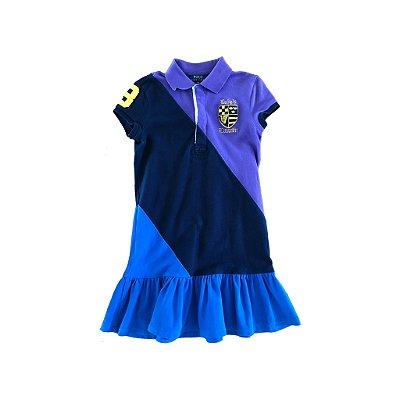 Vestido Ralph Lauren Polo Azul e Roxo