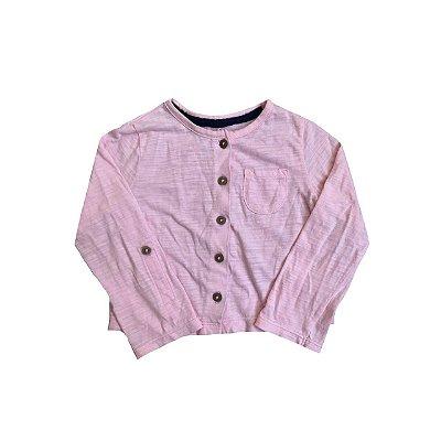 Blusa Malha CARTER'S Infantil Rosa Botões