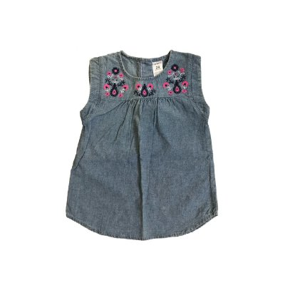 Blusa Jeans CARTER'S Infantil com Bordado Gola