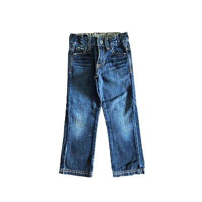 Calça Zara Kids Jeans Escuro Reta
