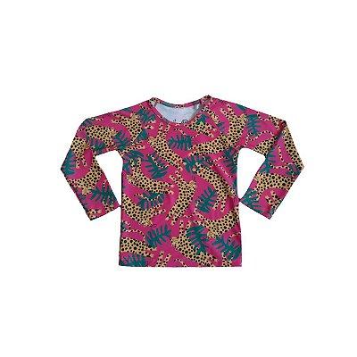 Camiseta Praia FÁBULA Infantil Leopardo