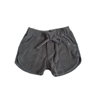 Shorts MINI VIDA Infantil Veludo Verde Militar