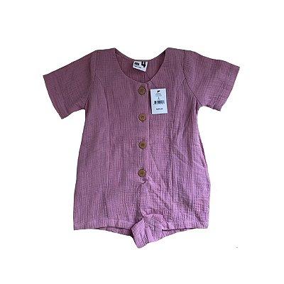Macaquinho Cotton On Kids Rosa com Etiqueta