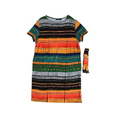 Vestido Malha LENNY NIEMEYER Feminino Listras Coloridas