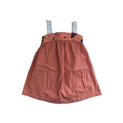 Vestido FABULA Laranja em Linho