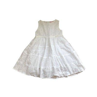 Vestido MOMI Infantil Branco em Lasie
