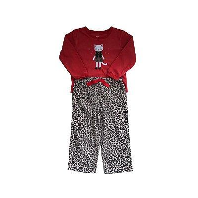 Conjunto CARTER'S Infantil Plush Vermelho e Onça