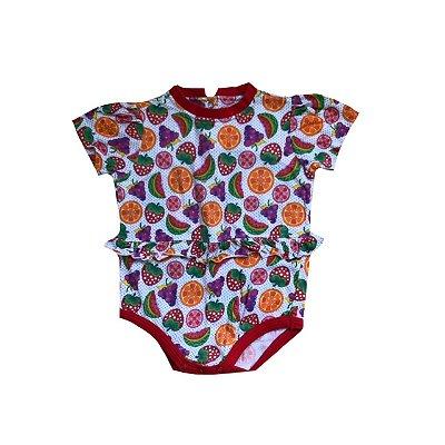 Bodie OVO Infantil Estampa Frutas