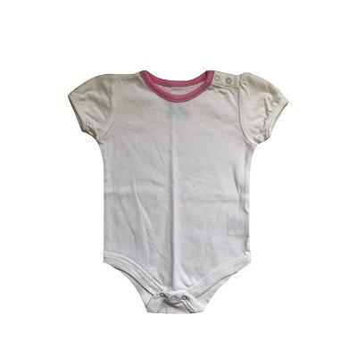 Bodie DISNEY Infantil Branco Gola Rosa