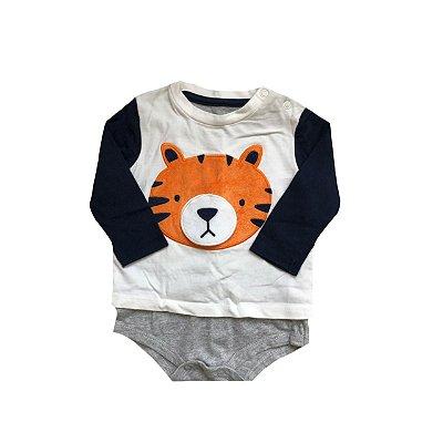 Bodie Manga Longa BABY CLUB Infantil Tigre