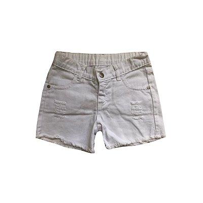 Shorts Jeans MALWEE Infantil Branco
