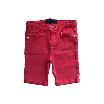 Bermuda Jeans TOMMY HILFINGER Infantil Vermelha com Stretch